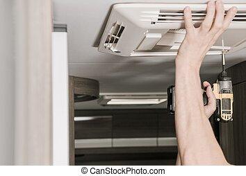 RV Air Conditioner Installation