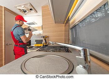 RV Camper Appliances Technician Repair Air Condition