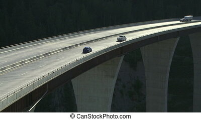 RV Camper on high bridge 02
