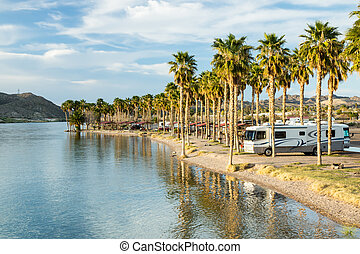 RV Camping on the Southern Colorado River - An RV campground...
