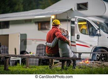 RV Campsite Family Time
