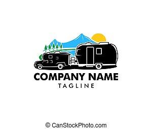 rv, car, campista, projetos, aventura, modelo, logotipo