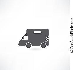 rv, furgão, car, acampamento
