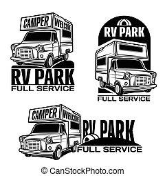 rv, ricreativo, automobili, veicoli, furgoni campeggiatore, caravan