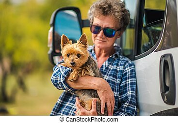RV Road Trip with Dog