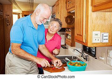 rv, seniors, -, köszönet, helyett, ételadag