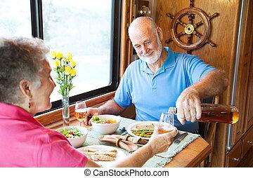 RV Seniors - Pouring the Wine