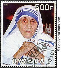 RWANDA - 2003: shows Mother Teresa of Calcutta - RWANDA -...