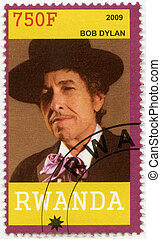 RWANDA - 2009: shows Bob Dylan - RWANDA - CIRCA 2009: A...