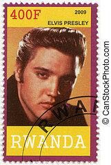 RWANDA - 2009: shows Elvis Aaron Presley (1935-1977)