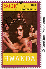 RWANDA - 2009: shows Led Zeppelin