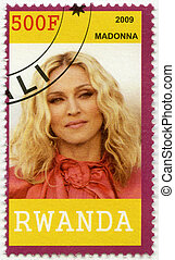 RWANDA - 2009: shows Madonna Louise Ciccone