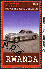 RWANDA - 2009: shows Mercedes 300 SL Gullwing