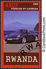 RWANDA - 2009: shows Porsche 911 Carrera