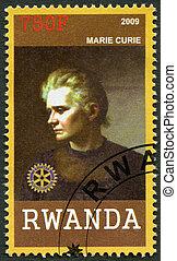 RWANDA - 2009: shows portrait Marie Curie (1867-1934)