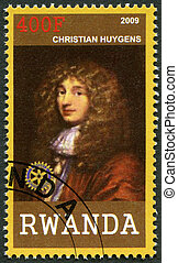 RWANDA - 2009: shows portrait of Christiaan Huygens (1629-1695)