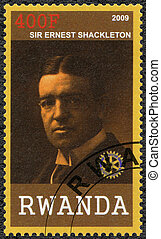 RWANDA - 2009: shows portrait of Sir Ernest Henry Shackleton...