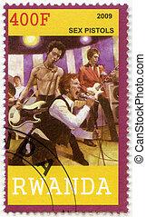 RWANDA - 2009: shows Sex Pistols - RWANDA - CIRCA 2009: A...