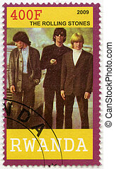 RWANDA - 2009: shows The Rolling Stones