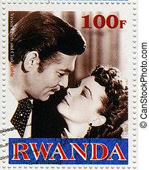 RWANDA - CIRCA 2000 : stamp printed in Rwanda with Vivien ...