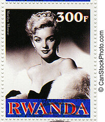 RWANDA - CIRCA 2003 : A stamp printed in Rwanda showing...
