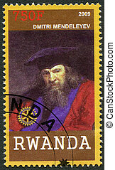 RWANDA - CIRCA 2009: A stamp printed in Republic of Rwanda...