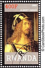 RWANDA - CIRCA 2009: Stamp printed in Rwanda shows Albert...