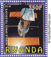 RWANDA - CIRCA 2009 : Stamp printed in Rwanda shows Hubble space telescope , circa 2009