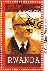 RWANDA- CIRCA 2009 : stamp printed in Rwanda  shows Sir William