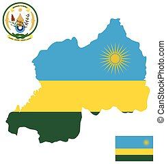 Rwanda Flag - Flag and coat of arms of the Republic of...