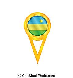 Rwanda pin flag