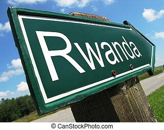 Rwanda road sign