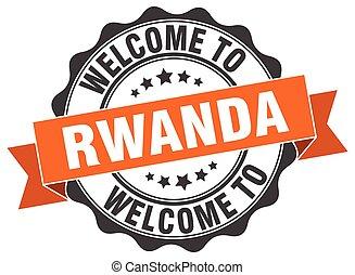 Rwanda round ribbon seal