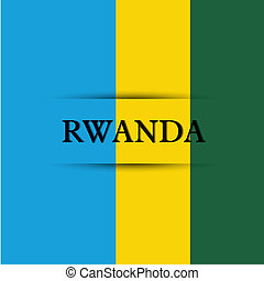 Rwanda text on special background allusive to the flag