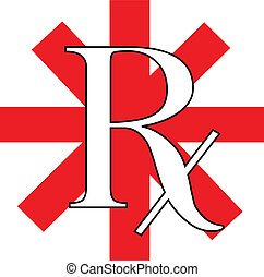 RX - a vector red and white rx illustration