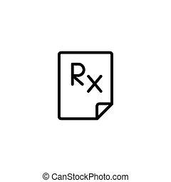 rx blank icon black on white background