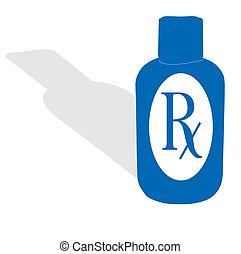 RX bottle - A medication themed bottle illustration