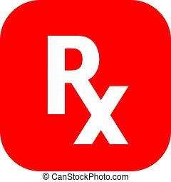rx, médico, prescripción, señal