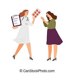 rx, prescripción, antidepresivos