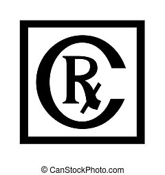 Rx symbol icon illustration