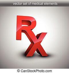 Rx vector 3d illustration