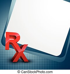 Rx vector - vector background with Rx symbol