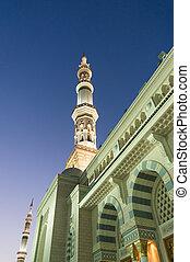 rycerz, nabawi, meczet, wieża