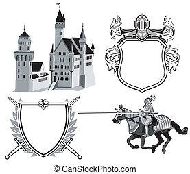 rycerz, zamek