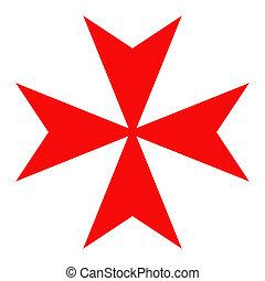 rycerze, krzyż, malta