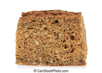 Rye Bread - A photo of some rye bread set against a white...