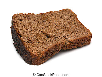 Rye Bread - rye bread isolated on white close up