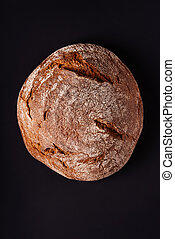 rye bread top view