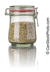Rye in a jar
