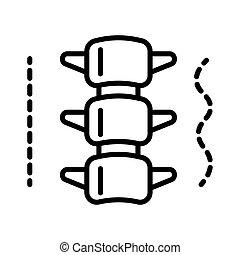 rygg, struktur, fodra, ryggrad, eller, isolerat, ikon, anatomisk